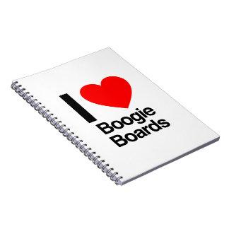 i love boogie boards note book