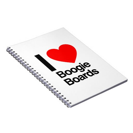 i love boogie boards note book