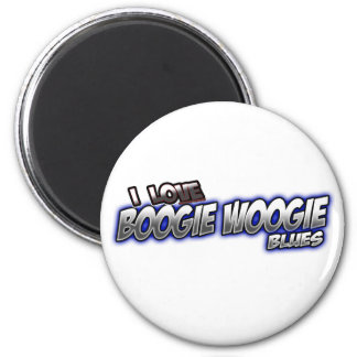 I Love Boogie Woogie BLUES music 6 Cm Round Magnet
