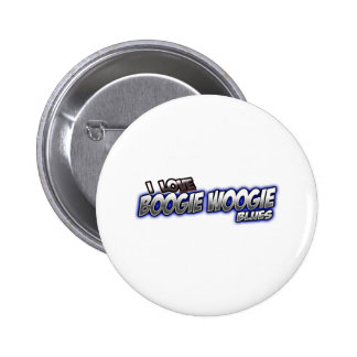 I Love Boogie Woogie BLUES music Button