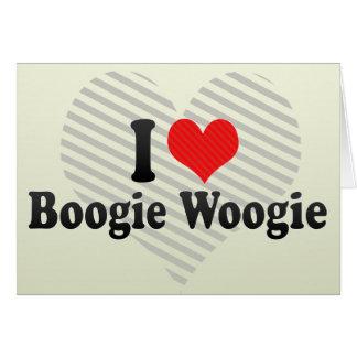I Love Boogie Woogie Greeting Card