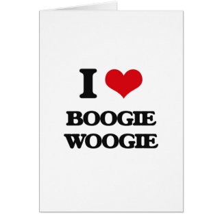 I Love BOOGIE WOOGIE Cards