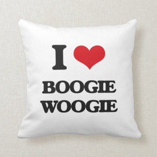 I Love BOOGIE WOOGIE Throw Pillows