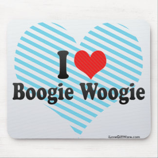 I Love Boogie Woogie Mouse Pad