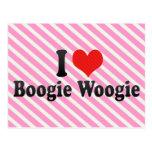 I Love Boogie Woogie Postcard