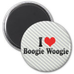 I Love Boogie Woogie Refrigerator Magnets