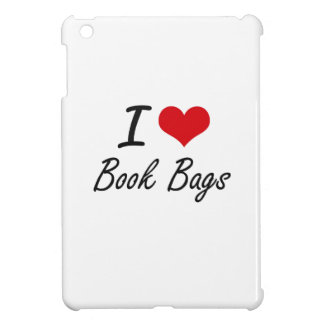 I Love Book Bags Artistic Design iPad Mini Cover