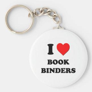I Love Book Binders Key Chain