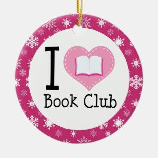 I Love Book Club Ornament