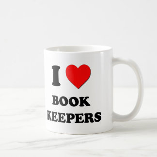 I Love Book Keepers Mugs