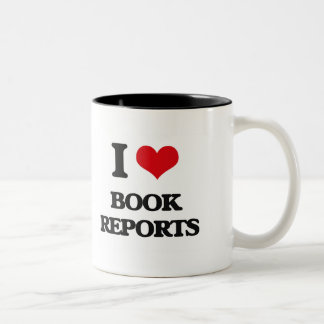 I Love Book Reports Coffee Mugs