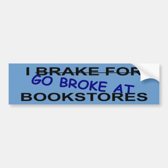 I Love Book Stores Bumper Sticker for Book Worms