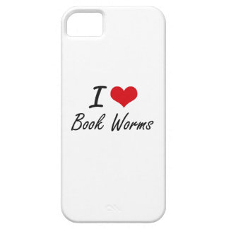 I Love Book Worms Artistic Design iPhone 5 Cover