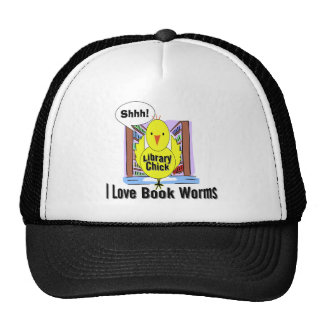 I Love Book Worms Mesh Hats