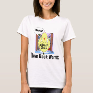I Love Book Worms T-Shirt