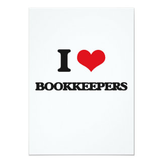 I Love Bookkeepers 13 Cm X 18 Cm Invitation Card