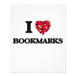I Love Bookmarks 11.5 Cm X 14 Cm Flyer