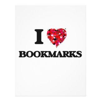 I Love Bookmarks 21.5 Cm X 28 Cm Flyer