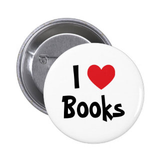 I Love Books 6 Cm Round Badge