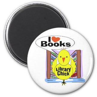 I Love Books 6 Cm Round Magnet