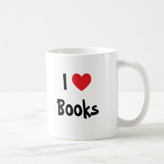 I Love Books Basic White Mug