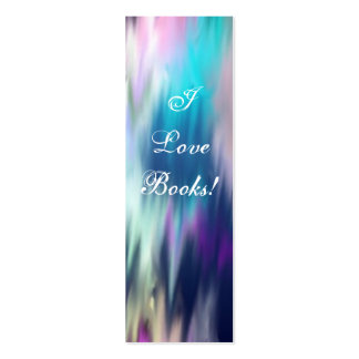 I Love Books! Bookmark Pack Of Skinny Business Cards