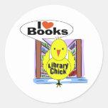 I Love Books Classic Round Sticker