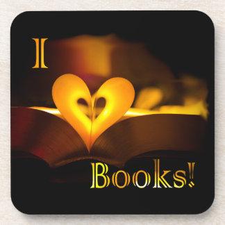 I Love Books - I Heart Books Candlelight Drink Coaster