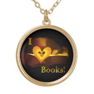 I Love Books - I 'Heart' Books (Candlelight) Custom Jewelry