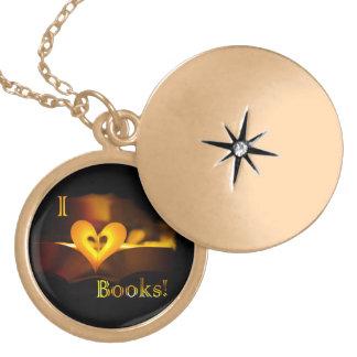 I Love Books - I Heart Books Candlelight Necklaces
