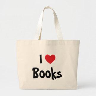 I Love Books Large Tote Bag