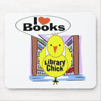 I Love Books Mouse Pad