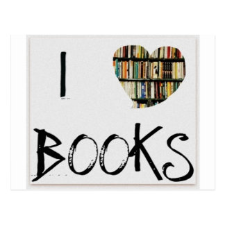 I Love Books Postcard