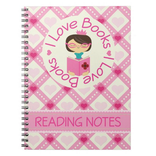 I Love Books Reading Notes Journal Spiral Notebooks