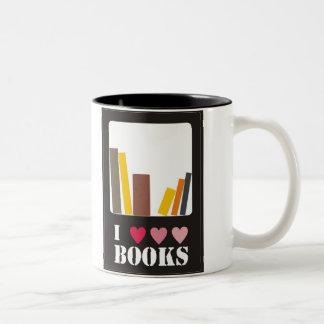 I love books tea mug