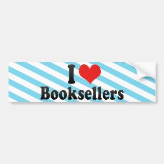 I Love Booksellers Bumper Sticker