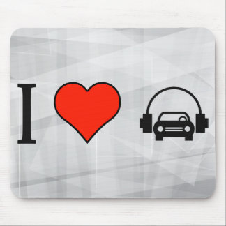 I Love Boom Box In Car Mouse Pad