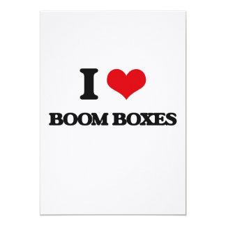 I Love Boom Boxes 13 Cm X 18 Cm Invitation Card