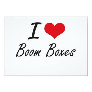 I Love Boom Boxes Artistic Design 13 Cm X 18 Cm Invitation Card