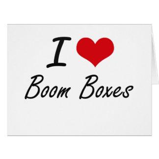 I Love Boom Boxes Artistic Design Big Greeting Card