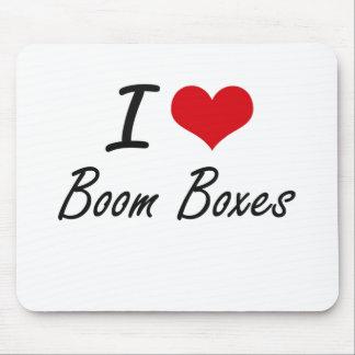 I Love Boom Boxes Artistic Design Mouse Pad