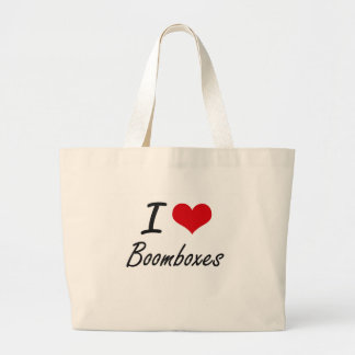 I Love Boomboxes Artistic Design Jumbo Tote Bag