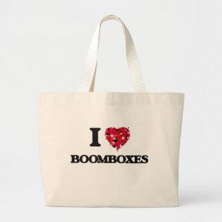 I Love Boomboxes Jumbo Tote Bag