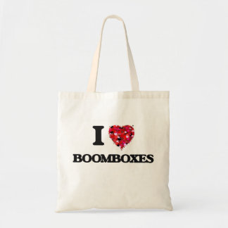 I Love Boomboxes Budget Tote Bag
