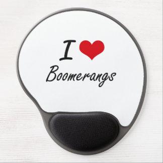 I Love Boomerangs Artistic Design Gel Mouse Pad