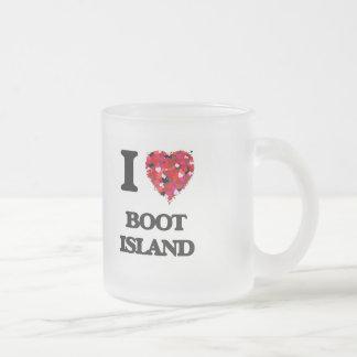 I love Boot Island Michigan Frosted Glass Mug