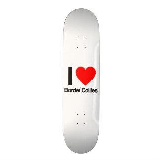 i love border collies custom skate board