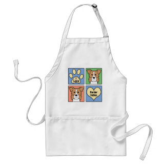 I Love Border Collies Standard Apron