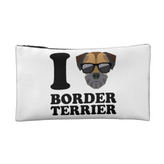 I Love Border Terrier -1- Cosmetic Bags