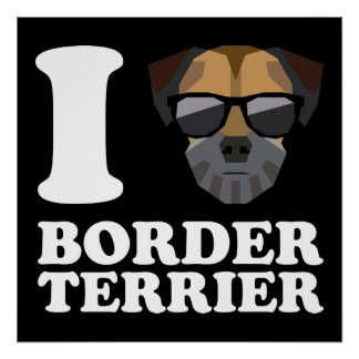 I Love Border Terrier -2- Poster
